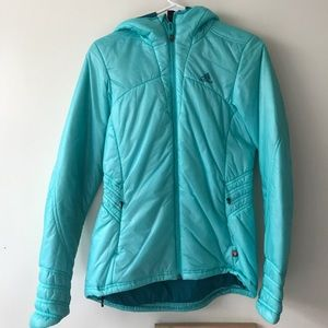Adidas teal jacket with hoodie